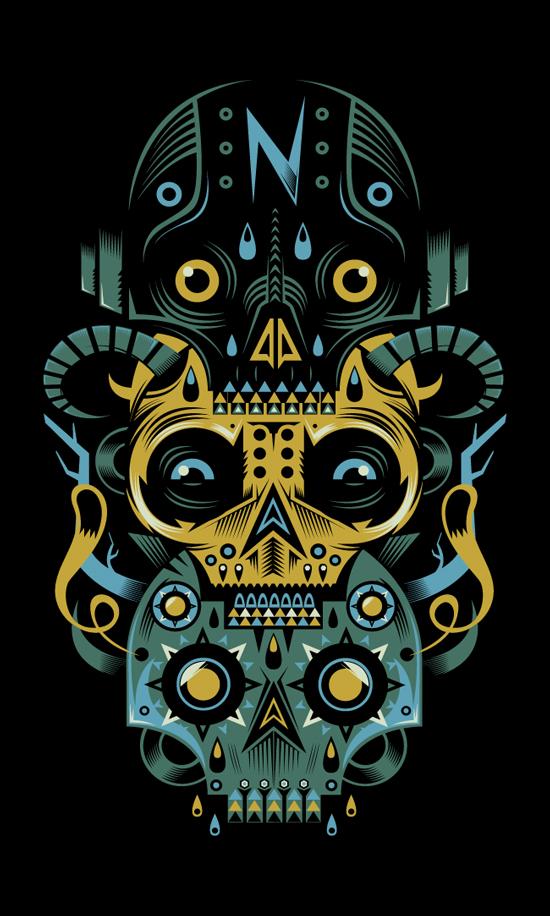 Camiseta Totem Skull