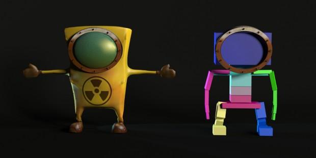 Pele e osso de modelo 3D (personagem do TCC de Rodrigo Janz e Diego Mafioletti)