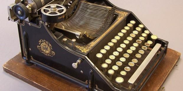Para quem por um acaso não conheça, uma máquina de escrever.