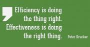 Eficácia, eficiência e efetividade