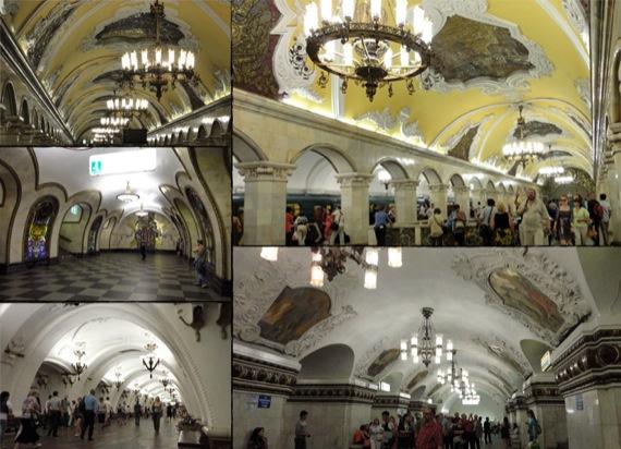 Figura 03: Estações mais famosas do metrô de Moscou*