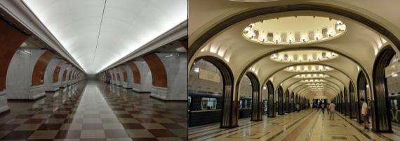 Figura 04: Estações mais famosas do metrô de Moscou