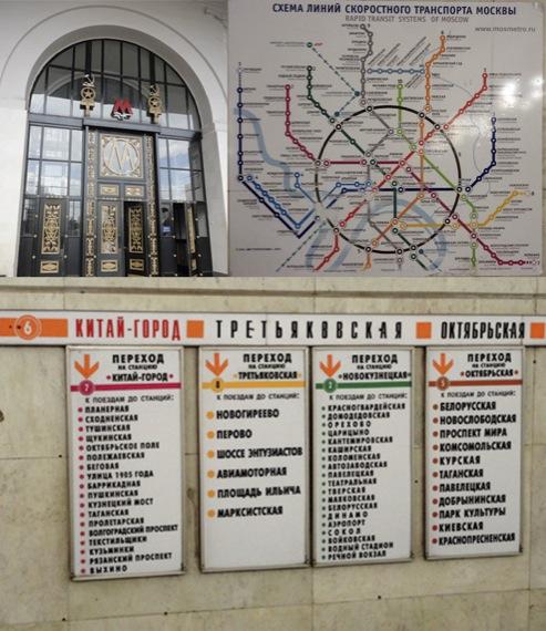 Figura 06: Informação no metrô de Moscou