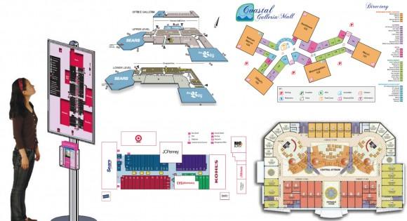 Aplicação de mapas e plantas em Shopping Center