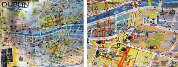 Mapa turístico de Dublin (2011)