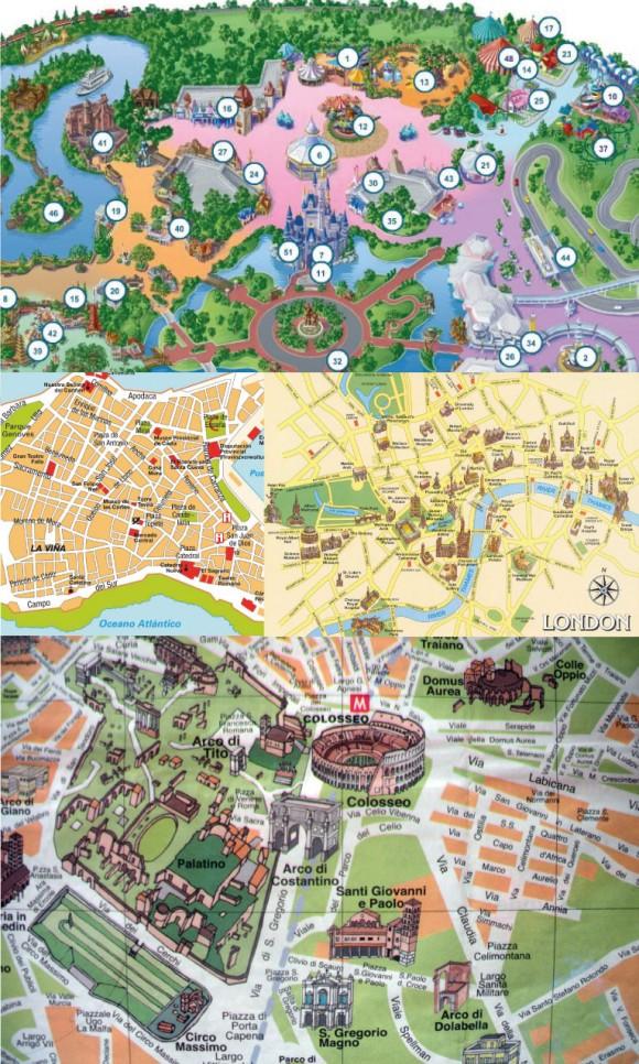 Recursos de cor que facilitam o entendimento de mapas