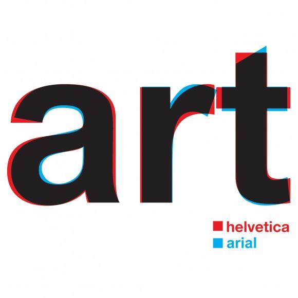 Comparação visual entre Helvetica e Arial