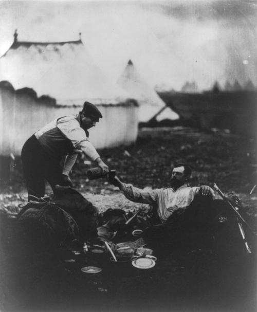 """O dia de trabalho dele terminou"". 1855. Foto por Roger Fenton."