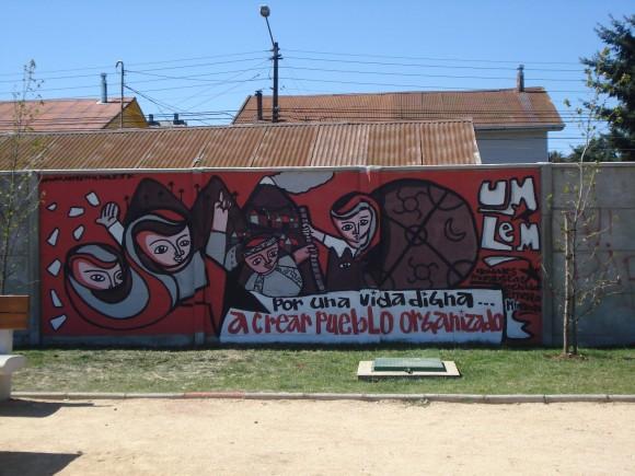 Unidad Muralista Luchador Ernesto Miranda - Mural em Temuco, Chile (2012)