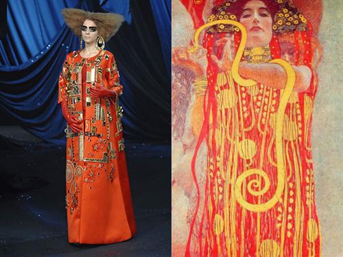 Galliano para Dior, 2008  -  Gustav Klimt