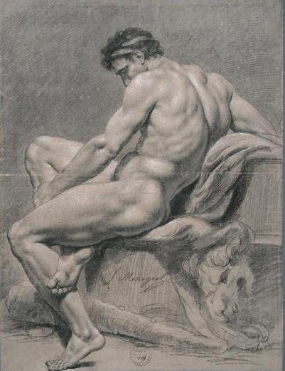 François-Guillaume Ménageon, Hercule ao Repos, Paris, séc. XVIII