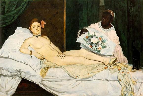 Manet – Olímpia, 1863: percursor de um escândalo, Manet representa uma prostituta – formas reais e em uma cena cotidiana