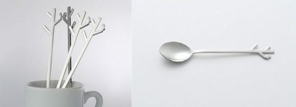 Forest Spoon (2011).  A proposta do estúdio foi projetar uma colher que fosse divertida de observar quando não estivesse em uso.