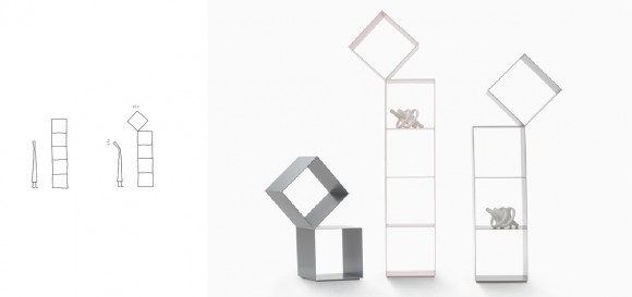 Drop bookshelf (2012)