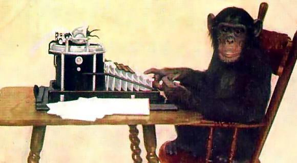 O teclado e seu amigo macaco
