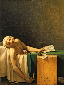 Marat Assassinado - Jacques Louis David - 1793