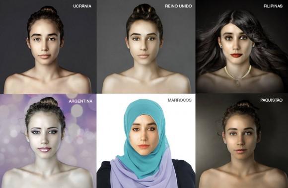 Mesmo briefing, diferentes visões | A mesma foto foi enviada para vários países com o mesmo briefing: torne a garota da foto bonita.