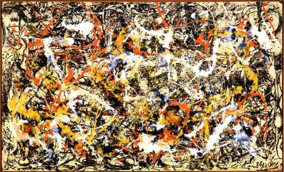 Convergence, de Jackson Pollock | Para que serve este monte de respingo sobre a tela? Para nada. E para tudo.
