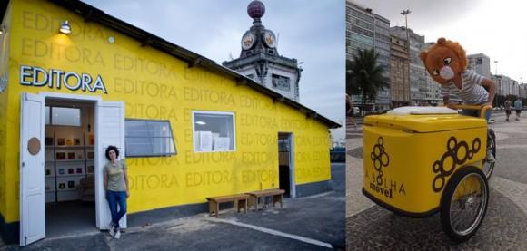 A Bolha | Editora especializada em narrativas visuais, a Bolha percorre as ruas cariocas num carrinho de sorvete vendendo livros e quadrinhos. É o tipo de iniciativa inusitada que faz parte do ramo independente.