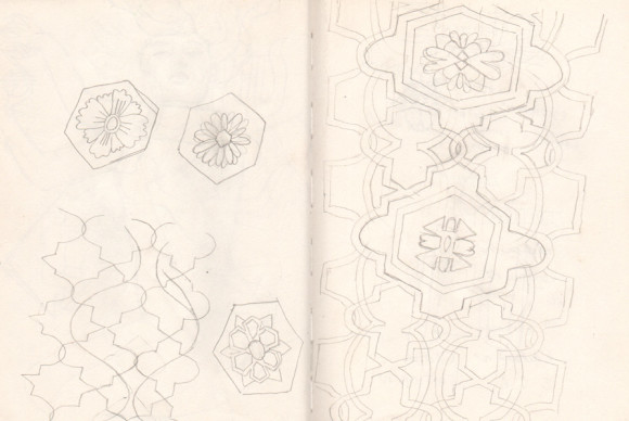 Riikka Sormunen,  Sketchbook,  _Some pattern designs_