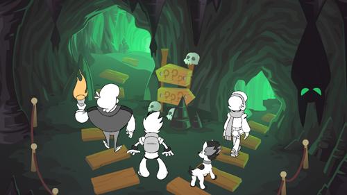 Teste para inserção dos personagens sobre o cenário finalizado.