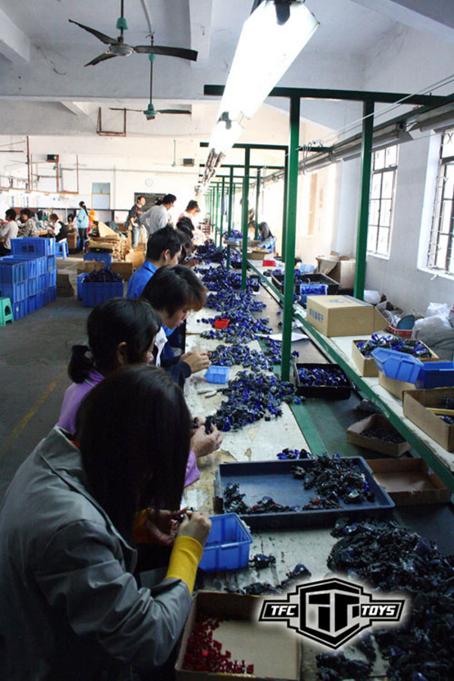 Linha de produção em uma fábrica chinesa.